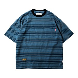 TIGHT BOOTH  / BOARDER T-SHIRT / BLUE / L