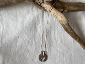 <vintage silver925>modern motif necklace