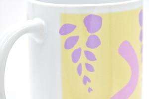 KAGE-P作「歓迎のパープル」・右利き用マグカップ・送料、税込み