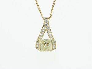 【VS-2】計1.380ct UP Yellowダイヤモンドネックレス