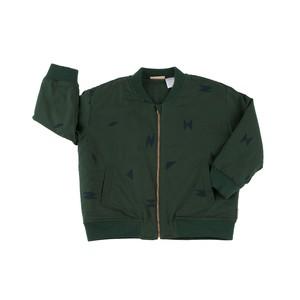 Tinycottons / folk elements woven bomber jacket