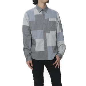 CHAMBRAY FRANKEN SHIRT - GRAY