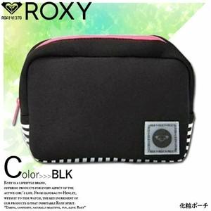 ROA141370 ロキシー 人気ブランド ボーダー ポーチ レディース 化粧ポーチ ギフト コスメポーチ おしゃれ おすすめ ブラック ROXY