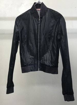 1990s HUSSEIN CHALAYAN FITTED BOMBER JACKET