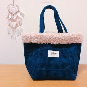Corduroy tote bag - Navy