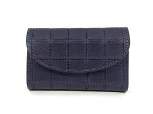RE.ACT Stitch Indigo Three Fold Wallet