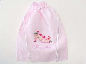 高品質 可愛いくつ柄巾着(Khanh Quyen社)