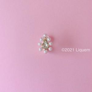 Liquem / ミニoneイヤリング(パール/マスカット)