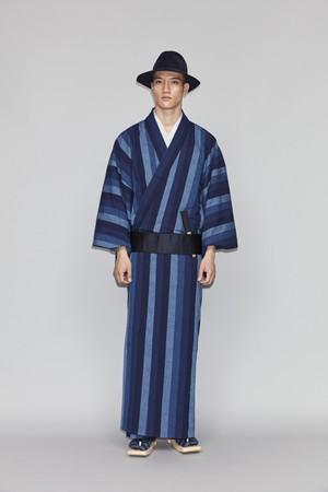きもの / 片貝木綿 / 鰹縞 / Indigo(With tailoring)