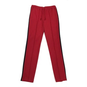 JOHNLAWRENCE SULLIVAN SIDE LINE JERSEY SLACKS RED