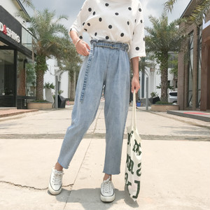 ♡casual waist denim pants 2817