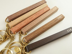片面箔押し ORDER WOOD HOTEL KEY-HOLDER