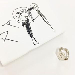 子どもの絵を刻印できるイヤカフ(SV) ~momento