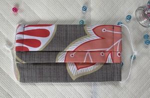 ★洗える布マスク*プリーツ(表柄あり)★フィルターやガーゼを挟めるように縫製しています★