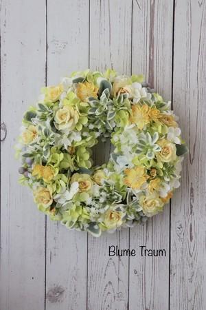 ★Blume Traum★ライトグリーン×イエローのリース