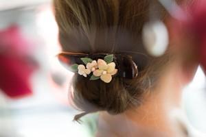 『  紫陽花のヘアクリップ』