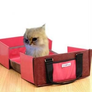 限定「ファッションバッグ型ペットトイレ」アーガイルワイン 送料無料!