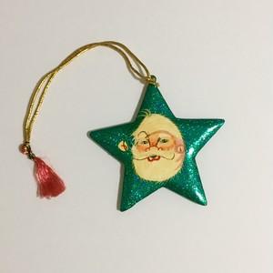 サンタの星型オーナメント