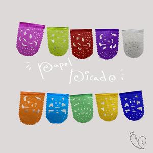 パペルピカド ガイコツ柄 ラウンド ミニ ※10連10色