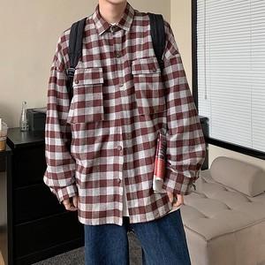 オーバーサイズチェックシャツ M-2XL