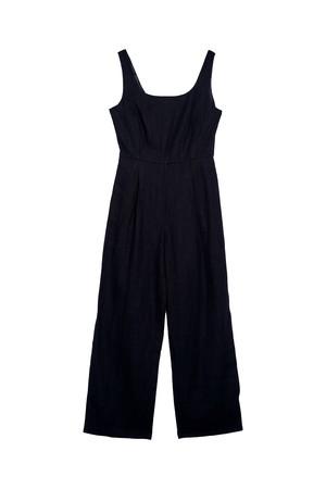 side slit rompers(black)