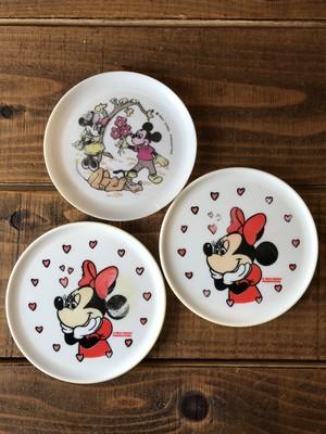 Disney Minnie Mouse MINI DISH Set/ミニーマウス プラスチックディッシュ 3枚セット ビンテージ