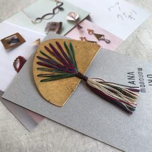 【作家作品】かなおり ブローチ No.784 金属と織りのアクセサリー 一点物【ハンドメイド】