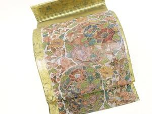 ☆90400☆中古美品 袋帯 螺鈿細工 花鳥模様