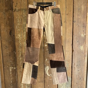 Children of the discordance / TYPE-517 VINTAGE LEATHER PATCHWORK PANTS / size 2(M)