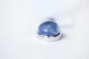 デモルチェライト インクルージョン インクウォーツ[ブルーミモザ](ブラジル産)