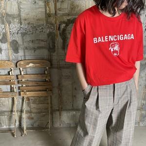 BLACK SCORE【ブラックスコア 】BALENCIGAGA Tシャツ(RED).