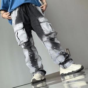 【即納】韓国ファッション Wash processing カーゴ Pants