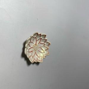 ダリア豆皿 [ 6 x 1cm ] 【初秋の赤絵食卓】