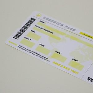 搭乗券ステッカー「国際線ビジネスクラス」