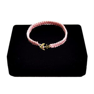【無料ギフト包装/送料無料/限定/即納】K18 Gold Anchor Bracelet / Anklet Dusty Pink【品番 17S2010】