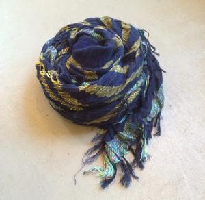"【tamaki niime タマキニイメ】 ""roots shawl cotton"" (big) 003"
