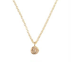 18K Yellow Gold necklace + White Diamond