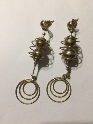 Vintage 925 silver earrings ( ヴィンテージ シルバー モダン ピアス )