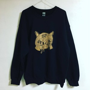 Third Eye Cat sweat shirt men's L