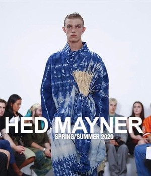HED MAYNER - shirt - HMS606_BLU/WHT - BLUE /WHITE SHIRT