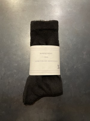 TrAnsference object dyed long socks - imperfection black
