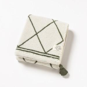 BOHO STYLE grid /フェイスタオル/グリーン1-67487-31-G