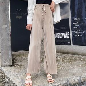 【 ボトムス】ファッションフェミニン清々しいボウタイガウチョパンツ26593389