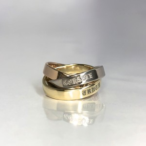 18K TRIPLE RING_WHITE GOLD,YELLOW GOLD,PINK GOLD / 18Kトリプルリング
