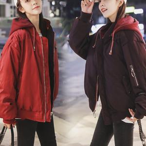 【アウター】ファッション定番両側に着用配色フード付きジッパーダウンコート23363022