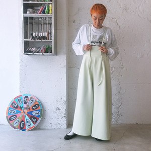 DOUBLE KNIT WIDE OVERALL / WOMEN