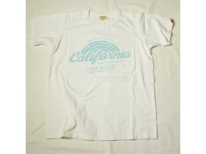 スマートスパイス CALIFORNIA SURF RIDER PRINT T-SHIRTS WHITE