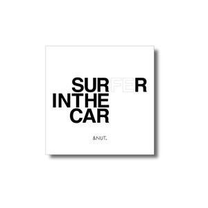 IN THE CAR sticker / SURFER