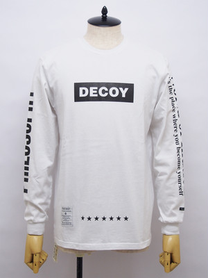 DECOY & CO. (デコイアンドシーオー) World of Illution Long Tee / WHITE×BLACK D63412-00