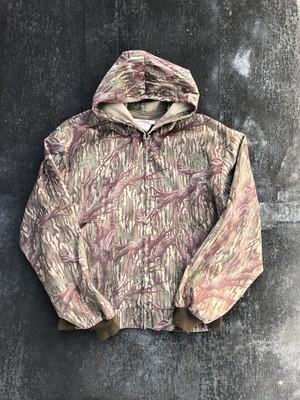 Real camouflage hoodie jacket